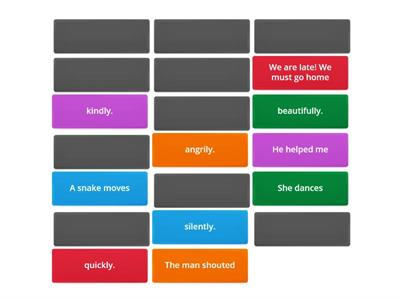 ADVERBS MEMORY GAME