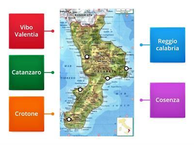 Cartina Fisica Della Calabria.Quiz Sulla Calabria Risorse Per L Insegnamento