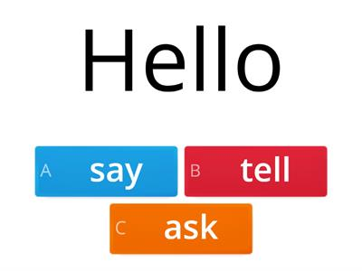 Say / tell / ask