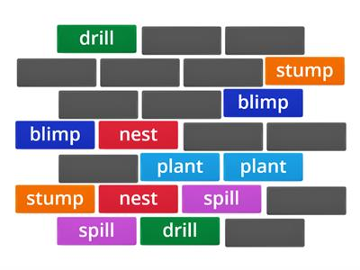 Words with Blends Matching Game
