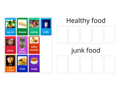 Healthy or junk food