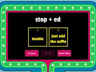 Doubling Rule Game Show (one-syllable)