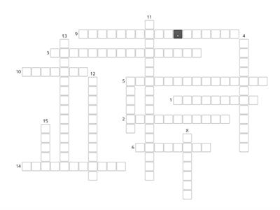 YEAR 6 UNIT 5 - 360 (Reading Comprehension) Crossword Puzzle