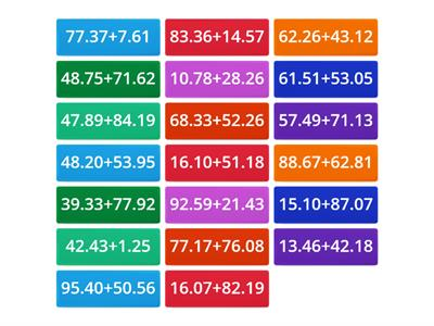 Maths Tiles Decimal Addition
