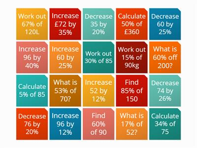 Percentage Revision