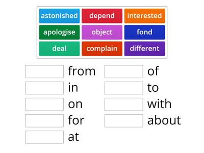 dependent prepositions
