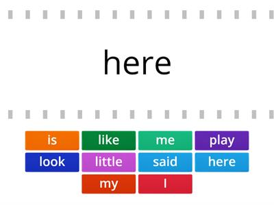 Game 3 Words #11-20 First Grade High Frequency/Sight Words