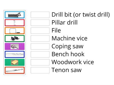 Ks3 basic woodwork tools