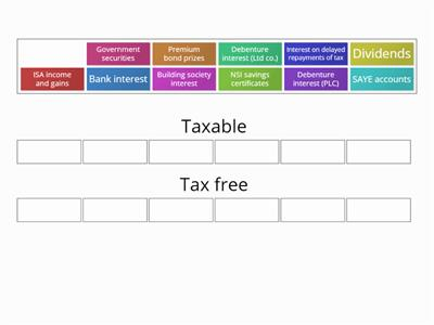 Investment income - taxable or tax free? AAT L 4