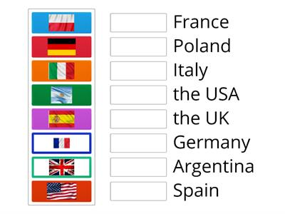 Brainy 4. Unit 2. Flags of different countries