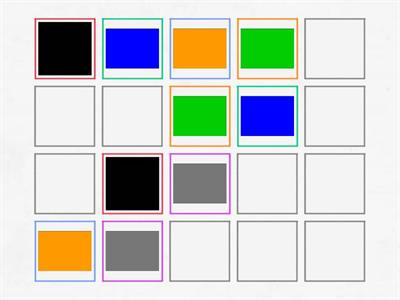 Colour Memory Game