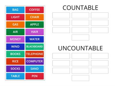 p65 - UNIT 5 - GRAMMAR 2 - UNCOUNTABLE AND COUNTABLE NOUNS