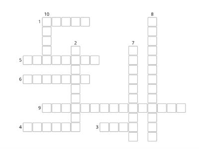 Punctuation Crossword for Year 9 - Tania