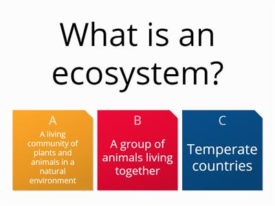 Ecosystems Revision