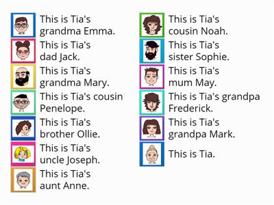 Tia`s family tree - easy