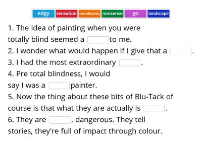 The Blind Painter - vocabulary practice (1)
