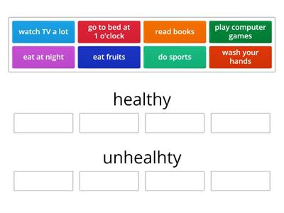 sm 1-unit 5-healthy/unhealthy
