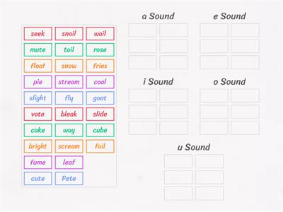 Vowel Sound Sort - Words
