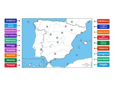 Cartina Muta Marocco.Spagna Cartina Muta