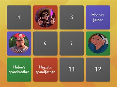 Disney Families - Memory Game