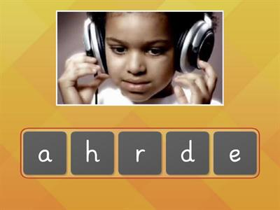 Grade 5/6 Unjumble the letters 'h' and 'j' sound