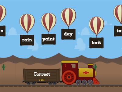 Vowel Digraphs 'ai' and 'ay'