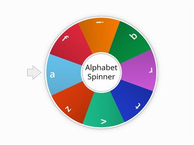 Alphabet Spinner (lowercase)