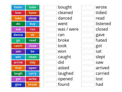 Brainy 5 VERBS (present and past forms)