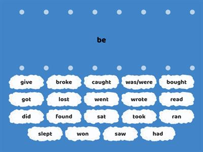 Irregular verbs - Brainy V unit 7
