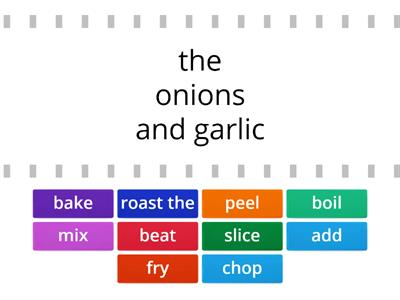 English Class A2 Unit 6.1 - cooking verbs