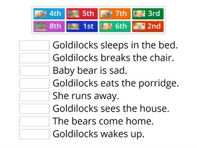 Goldilocks and The Three Bears Sequencing-KG2