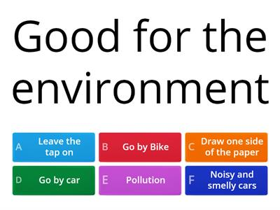 Good & Bad for the environment