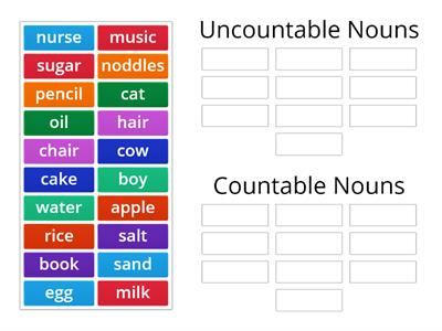 Countable and Uncountable Nouns - 1
