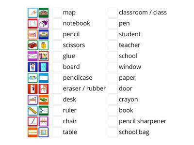 4. sınıf classroom objects