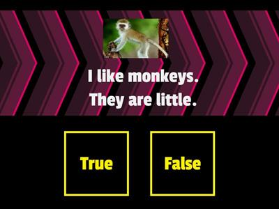 I like monkeys!-game