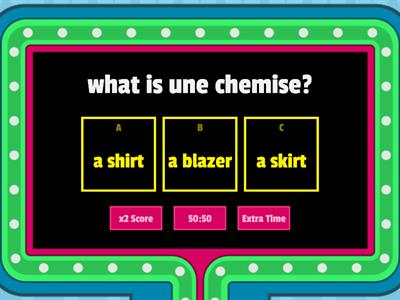 clothing quiz