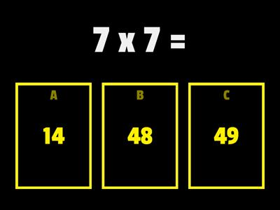 7 times table quiz