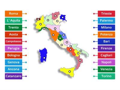 Cartina D Italia Con Capoluoghi Di Regione.Regioni E Capoluoghi Italia Risorse Per L Insegnamento
