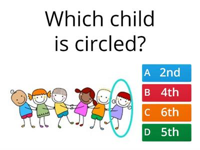 Ordinal Numbers Quiz