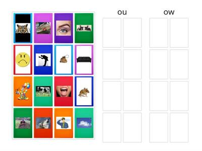Picture sort: ou and ow