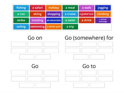 "expressions with ""Go"""
