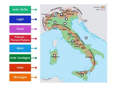 Cartina Fisica Italia Colline.Fisica Cartina Italia Risorse Per L Insegnamento
