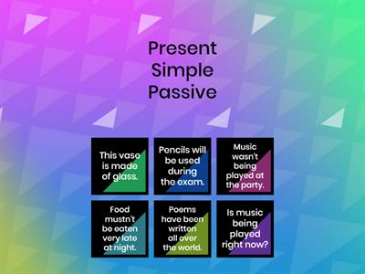Passive (Simple, Continuous, Perfect, Modal)