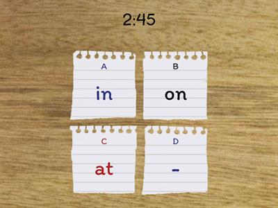 Prepositions of Time - In \ On \ At