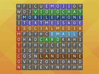 Communication Wordsearch