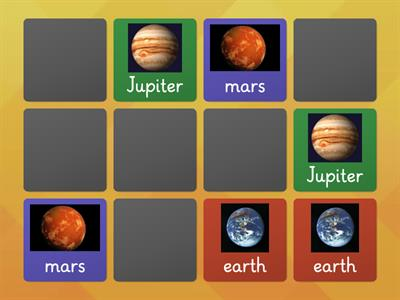 Pairs of Planets (Memory Game)