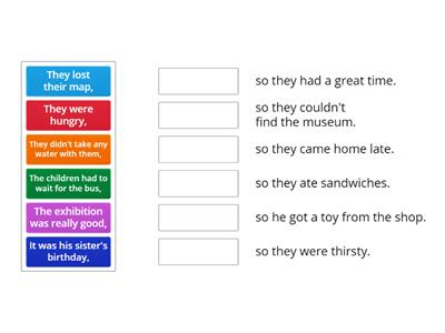 Kid's Box 4  - Unit 5 - Clauses using 'so' - grammar