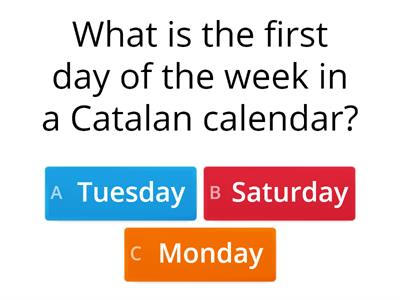 Read and answer: Days of the Week