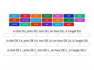 "Prepositions followed by ""DE"": Forms of ""de"": du, de la, de l'"