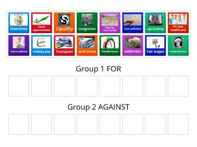 Group sort1 - For and Against #SEWALES